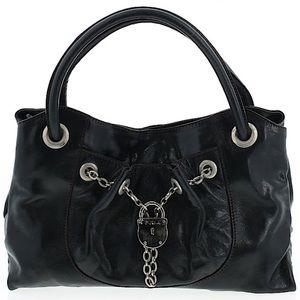Like New Furla Black Leather Handbag w dust bag